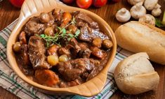 Slow Cooker Beef Burgundy Recipe - Old World Garden Farms Beef Tip Recipes, Crockpot Recipes, Slow Cooker Beef, Pressure Cooker Recipes, Most Popular Recipes, Favorite Recipes, Beef Burgundy Recipe, Tasty Dishes