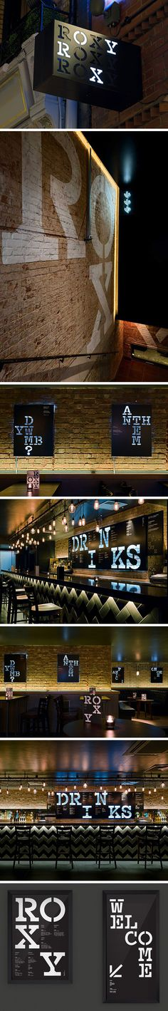 D.T. Practice: The Roxy bar interior design and signage