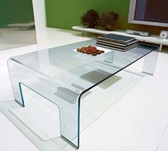 Real Large Glass Coffee Table by Calligaris