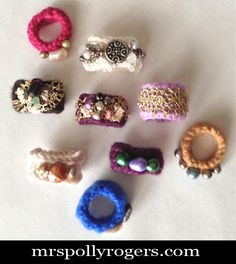 Click here to DIY Rings from Orphan Gloves.  Blog & Video from MrsPollyRogers.com