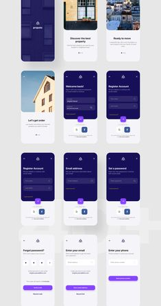 Propoto UI Kit Premium Real Estate UI Kit focused on luxury & elegant product Web Design, App Ui Design, Mobile App Design, User Interface Design, Android App Design, Android Ui, App Design Inspiration, Mobile App Ui, Apps