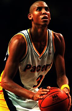 Reggie Miller, born in Riverside, CA. my home town. Basketball Is Life, Basketball Legends, Sports Basketball, Basketball Players, Reggie Miller, Baskets, Shooting Guard, Suit Card, American Sports