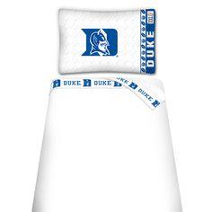 NCAA Duke Blue Devils Microfiber Sheet Set
