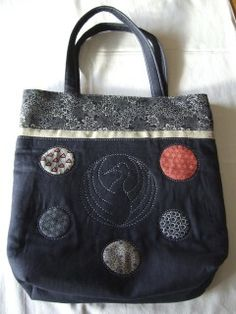 Mariko Bag sewn with the Babylock Sashiko machine. Published in Patchwork Magazin by my mom :)