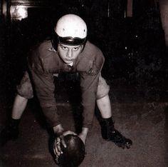Davey was a Football Player- 1954 Vintage Polaroid Photograph. $3.00, via Etsy.