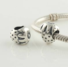 CLLW135 925 Sterling Silver Strawberry Pandora beads Screwed Core Pandora Fruits