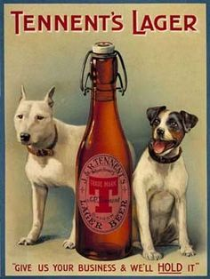 Tennent's Lager Beer Vintage Tin Sign