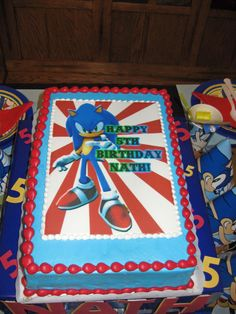 Pretty Photo Of Sonic Birthday Cake Shake The Hedgehog Party In 2018