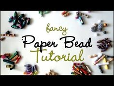 {MASSIVE} Fancy Paper Beads Tutorial - Jennibellie has me convinced I now need to make paper beads! Paper Beads Tutorial, Make Paper Beads, Paper Bead Jewelry, How To Make Paper, How To Make Beads, Beaded Jewelry, Beaded Bracelets, Bead Crafts, Jewelry Crafts