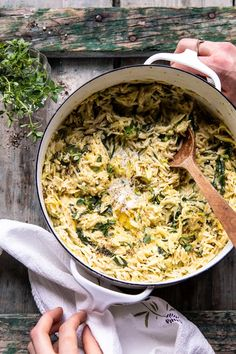 Cajun Delicacies Is A Lot More Than Just Yet Another Food Souper Creamy Lemon Butter Cheesy Zucchini Orzo Kind Of Like Risotto, Kind Of Like Soup, Made In Under 30 Minutes, Using Just One Skillet. Vegetarian Recipes, Cooking Recipes, Healthy Recipes, Fast Recipes, Drink Recipes, Delicious Recipes, Most Popular Recipes, Favorite Recipes, Half Baked Harvest