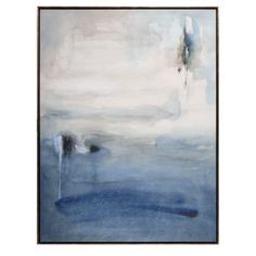 Blue Desolation from Z Gallerie Suggestion for artwork above fireplace in living room.