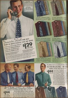 NewVintageLady: Man Month Project: 1930s Man's Shirt