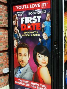 First Date poster #Broadway #Theater #NYC