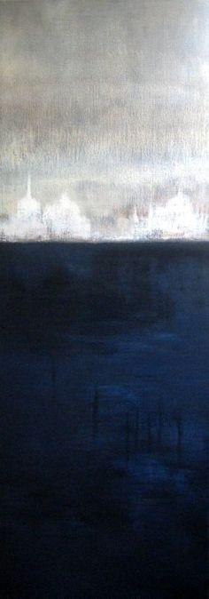Lagune 2011 acryl sur toile 120x40  Nuit sur la lagune 2011 acrylique sur bois 80x40 - Collection... #FredericClad