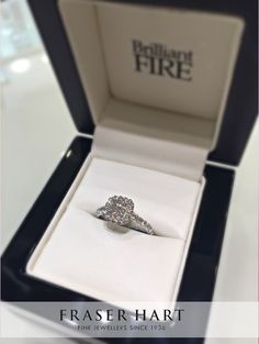 How Stunning Is This Brilliant Fire Platinum 106 Carat Diamond Cluster Ring Product Ref