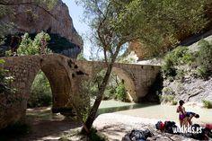 Puente de Villacantal sobre el río Vero a su paso por Alquezar