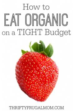 Want to eat organic, but afraid you'll blow your grocery budget?  These practical tips will help you save and still eat well!