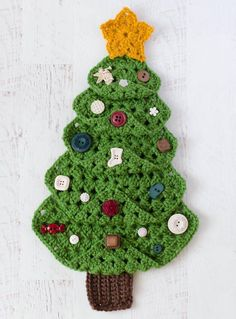 Find Christmas crochet patterns, of July crochet patterns, Halloween crochet patterns and much more. All the holiday crochet patterns you need are in this category. Crochet Christmas Trees, Christmas Tree Pattern, Christmas Tree Crafts, Christmas Squares, Christmas Stockings, Crochet Crafts, Crochet Projects, All Free Crochet, Quick Crochet
