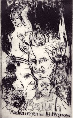 """""""Pars pro toto"""" Drypoint by H.-J. BERGMANN Prints, Art, Graphic Prints, Painting Art, Graphics, Figurine, Drawing S, Kunst, Art Background"""