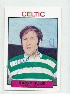 Harry Hood signed 1971/72 A&BC card #64 Celtic Scotland Clyde Sunderland