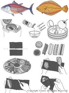 How to Make Japanese TEMAKIZUSHI, Hand-rolled Sushi|手巻き寿司