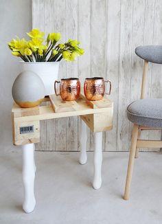 meble - stoły i stoliki-Stolik nocny z palety.