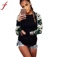 bb970a1f11 Camo Long Sleeved Shirt. Plus Size TopsArmy ...