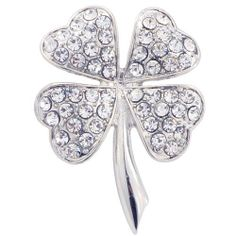Silver 4 Leaf Clover Flower Pin Brooch Fantasyard. $14.99. Other color available. Gift box available for an additional fee. Please check out through gift-wrap option. Exquisitely detailed designer style