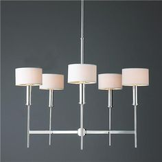 Pencil Arm Modern Chandelier @ Shades of Light This design i Chandelier Shades, Chandelier Lamp, Ceiling Lamp, Dining Nook, Dining Room Lighting, Dining Table, Contemporary Chandelier, Modern Contemporary, Contemporary Kitchens