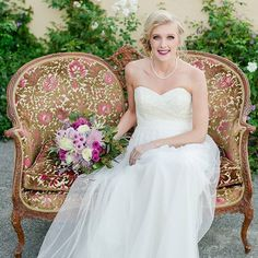 Enjoying this beautiful image from a styled shoot with the most amazing colors that compliment our antique paisley love seat so well. Images by Beautiful Florals Dress: MUA: Well Images, Victorian Sofa, Bhldn, Wedding Trends, Spring Flowers, Beautiful Images, Compliments, Florals, Paisley