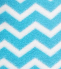 Blizzard Fleece Fabric-Blue Chevron