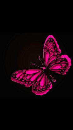 Purple Butterfly Wallpaper, Black Phone Wallpaper, Abstract Iphone Wallpaper, Unique Wallpaper, Heart Wallpaper, Pink Butterfly, Love Wallpaper, Pretty Wallpapers, Wallpaper Backgrounds