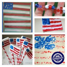 american flag crafts for kids!