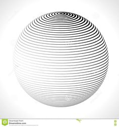 Abstract 3D Sphere With Stripes, Lines. Vector Illustration. Stock Vector - Illustration of network, internet: 72606768