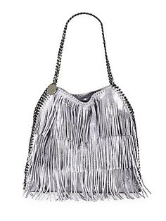 c7fdccf894 Stella McCartney - Baby Bella Metallic Fringe Shoulder Bag