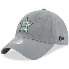 c80ee373256 Women s Houston Astros New Era Gray Swift 9TWENTY Adjustable Hat