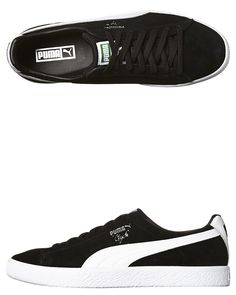 bb91affb7ca526 Tag your mate who needs this Mens Puma Clyde Og B And C Shoe Black Cotton
