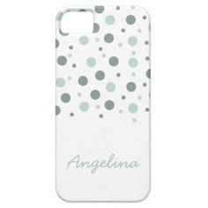 Mint Dots iPhone case