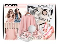 """Romwe contest - Loose Pink Sweatshirt"" by amerlinakasumovic ❤ liked on Polyvore featuring Dansk, Linea and romwe"