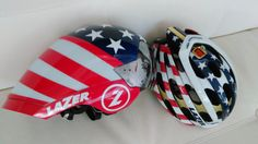Laser helmets custom lids for the 4th of July