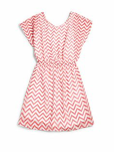 Sally Miller Girl's Chevron Chiffon Dress