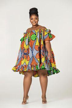 African Print Annika Off Shoulder Dress – Grass-fields Short African Dresses, Latest African Fashion Dresses, African Print Dresses, Ankara Fashion, Korean Fashion, Short Dresses, African Print Clothing, African Print Fashion, Modern African Clothing