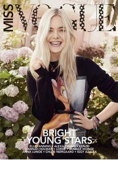 Elle Fanning for Miss Vogue (chic sweatshirt trend) #fallfashion #ellefanning