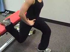 Bulgarian Split Squat - YouTube-- Been doing a lot of these lately. They really work but you FEEL it!