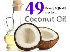 49 ways to use Coconut Oil - #coconutoil #beautytip #beautysecrets #plasticdiaries -  Love beauty? Go to bellashoot.com for beauty inspiration!