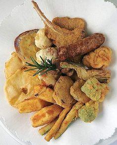 Fritto misto alla Piemontese--fried mixed meats and veggies, Piemonte-style (recipe in Italian)