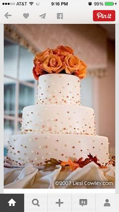 The perfect color of orange for OSU themed wedding cake