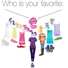 """""""Who is your favorite: My Little Pony"""" by dacey-jade on Polyvore"""