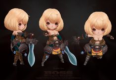 ArtStation - Boss, song ㅅㅗㅇ 3d Model Character, Game Character, Character Concept, Character Design, Chibi Characters, Cute Characters, Low Poly, Hand Painted Textures, Cartoon Styles