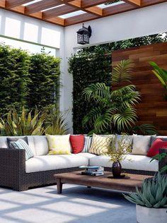 ideas garden patio decor outdoor rooms for 2019 Dream Furniture, Home Decor Furniture, Nice Furniture, Furniture Design, Outdoor Living Rooms, Outdoor Spaces, Outdoor Patio Designs, Outdoor Decor, Terrace Design
